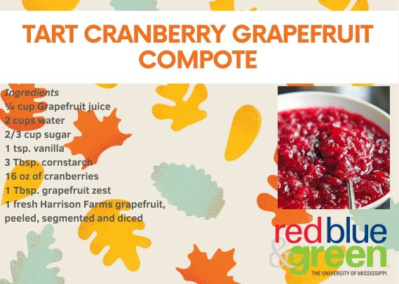 Tart Cranberry Grapefruit Compote Recipe